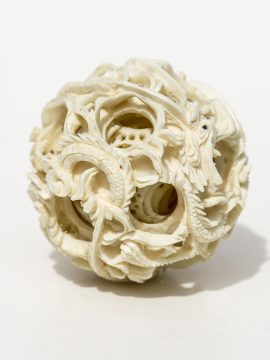 Unknown Artist - Dragons Puzzle Ball - Scrimshaw Collector