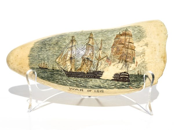 Unknown Artist - War of 1812 Scrimshaw - Scrimshaw Collector