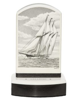 David Smith Scrimshaw - Schooner Yacht Atlantic