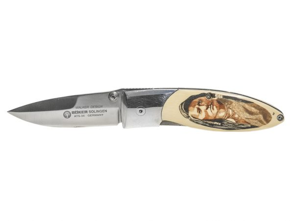 Gary Williams Scrimshaw Knife - Warriors - Scrimshaw Collector