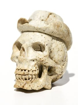 Unknown Carver - Cowboy Hat Skull