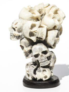 Moose Antler Skull Cluster Carving - Scrimshaw Collector