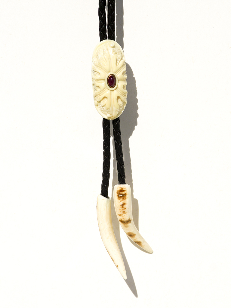 Ancient Walrus Tusk Ivory Bolo - Scrimshaw Collector
