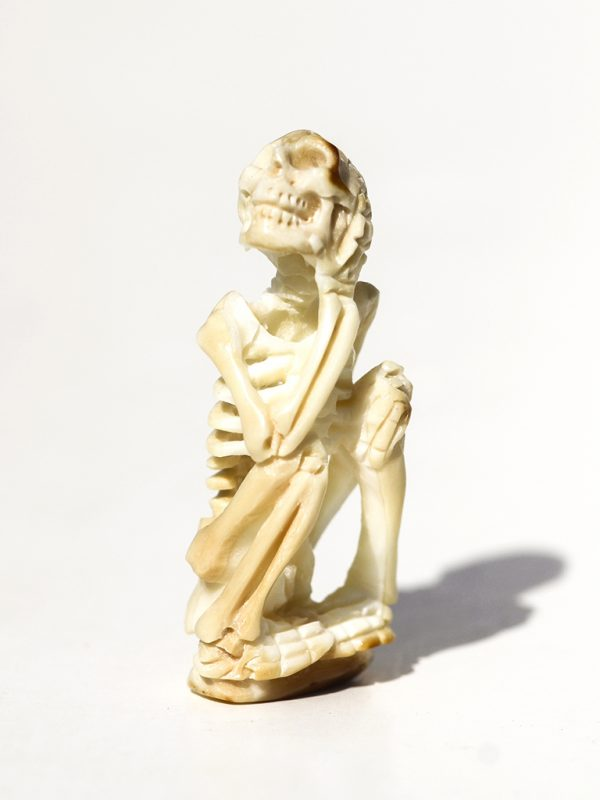 Unknown Artist - Yoga Pose Skeleton Carving - Scrimshaw Collector