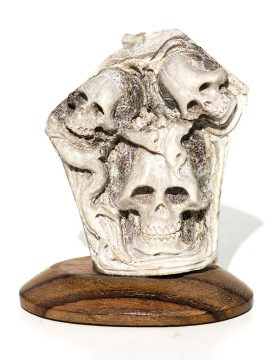 Unknown Artist - Cluster of Three Skulls
