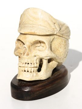 Unknown Artist - Skull with Motorcycle Cap