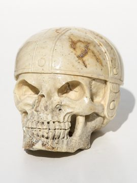 Unknown Artist - Skull with Football Helmet