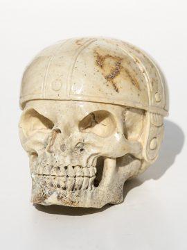 Unknown Artist - Skull with Football Helmet