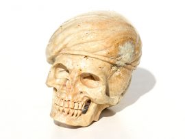 Unknown Artist - Carved Skull with Beret