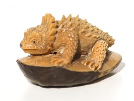 Unknown Artist - Horned Frog Tagua Nut Carving