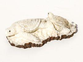 Unknown Artist - Sea Turtles Antler Carving