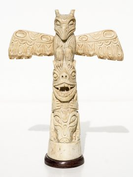 Unknown Artist - Carved Oosik Totem Pole