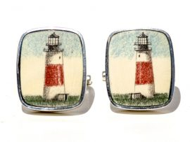 David Smith Scrimshaw - Sankaty Lighthouse Nantucket