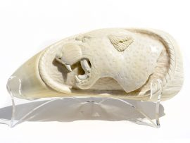 Ramos Carving - Whale's Tooth Carving - Tiger