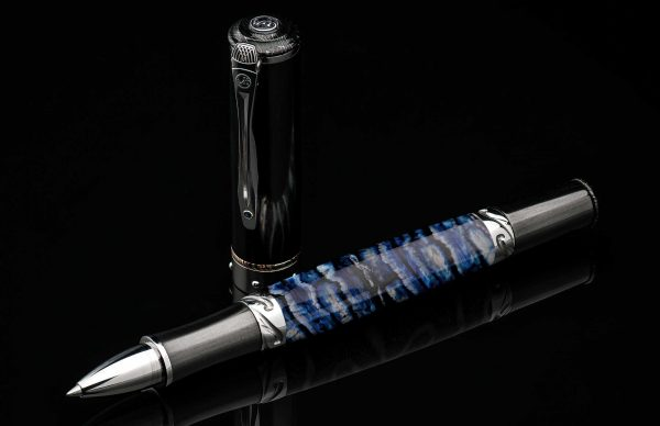 William Henry Cabernet Blue Mammoth Rollerball Pen