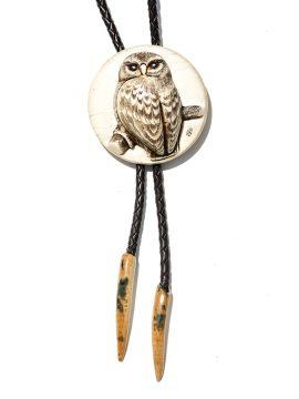 Albin Geiger Carver - Carved Owl Ivory Bolo