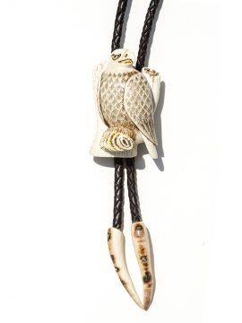 Albin Geiger Carver - Carved Ivory Eagle Bolo