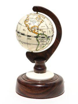 Kurt Sperry Scrimshaw - Antique Ivory World Globe