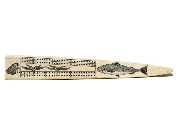 Unknown Artist - Fossil Walrus Cribbage Board