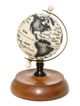 Ray Peters Scrimshaw - Whales of the World Globe