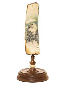 Kelly Mulford Scrimshaw - Majestic Snowy Owl