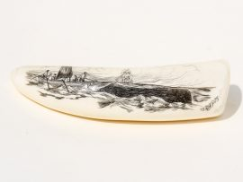 Ray Peters Scrimshaw - Close to Whale