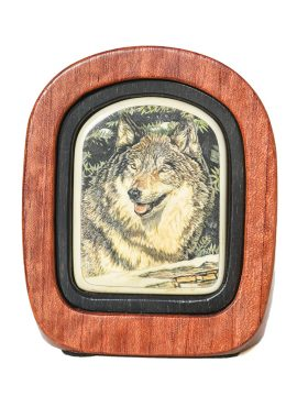 Kelly Mulford Scrimshaw - Winter Wolf