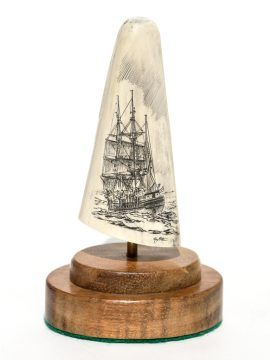 Ray Peters Scrimshaw - Whaler off to Work