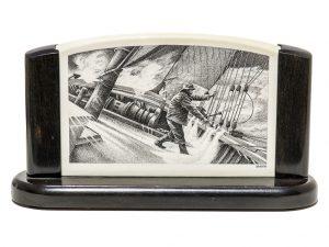 David Smith Scrimshaw - Dangerous Heavy Seas
