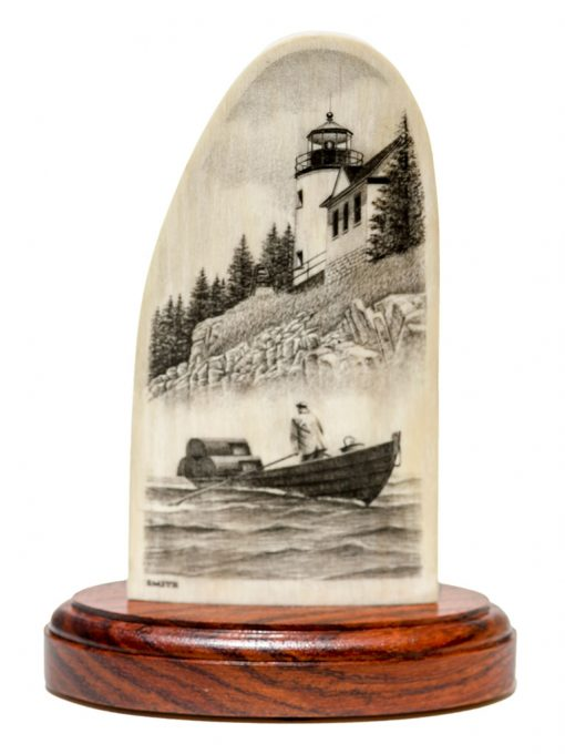 David Smith Scrimshaw - Lobsterman in Morning Fog Show information about the snippet editorYou can click on each element in the preview to jump to the Snippet Editor. SEO title preview:DavidSmith Scrimshaw - Lobsterman in Morning Fog