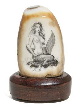 David Adams Scrimshaw - Mermaid on the Rocks