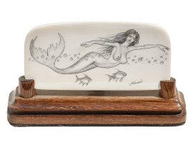 David Adams Scrimshaw - Mermaid and Fish