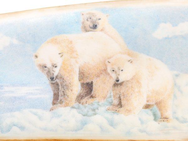 Karen Reno Scrimshaw - Hunting Polar Bear and Cubs