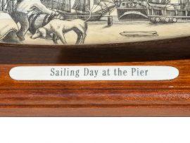 Salman Rashidi Scrimshaw - Sailing Day at the Pier