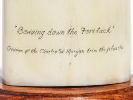 Gerry Dupont Scrimshaw - Bowsing Down the Foretack