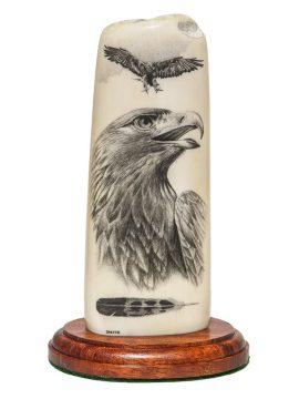 David Smith Scrimshaw - Awesome Golden Eagle