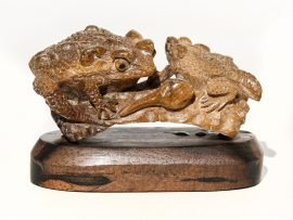 Unknown Carver - Two Toads and a Tadpole