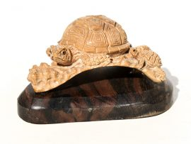 Unknown Carver - Sea Turtle and Small One